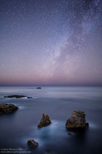 Milky Way and Sea Stacks
