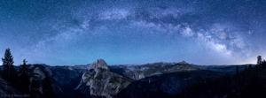 Milky Way over Half Dome Panorama