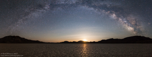 Moonrise over Black Rock Playa